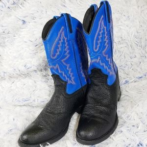 Old West Boys Leather Cowboy Boots Size 2.5